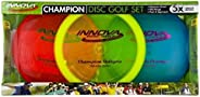 Innova Champion Disc Golf Set – Driver, Mid-Range & Putter, 150 Grams Each, Colors May Vary (3 Pack), Col