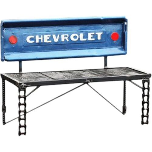 Enjoyable Amazon Com Chevy Truck Tailgate Garden Bench Handmade Caraccident5 Cool Chair Designs And Ideas Caraccident5Info
