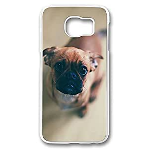 Diy S6 Cases Clear Feed Me Animal Dog Design [Slim-Fit] Protective Cover Shock-Absorption Bumper for Samsung Galaxy S6