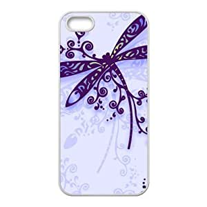 Fashion dragonfly Personalized iPhone 5 5S Rubber Silicone Case Cover