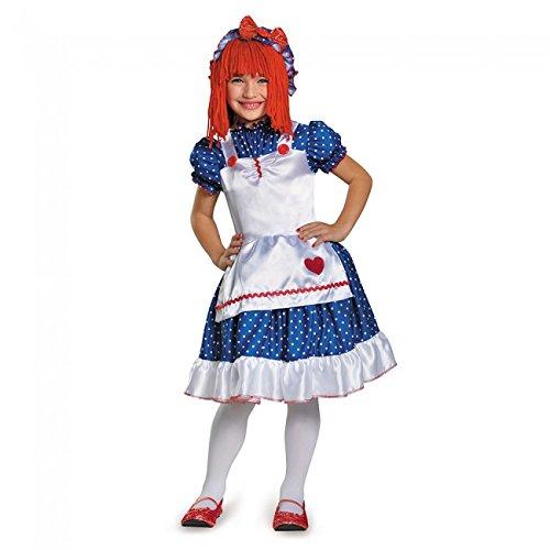 Disguise 84081K Raggedy Ann Costume, Medium (7-8)