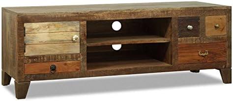 Muebles Ideal Rano – Mueble bajo TV Paulina – Cómoda de Madera Maciza Reciclado 145 x 50 cm Used Look: Amazon.es: Juguetes y juegos