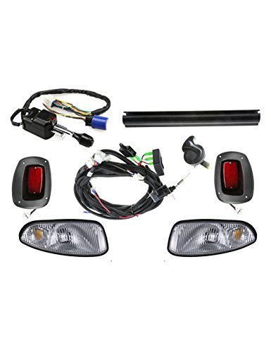 EZGO RXV Deluxe Light Kit------------------Halogen Headlights/LED Taillights with turn signal switch and horn Deluxe Light Kit