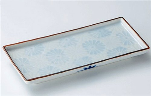 SEIJI Jiki Japanese traditional Porcelain Set of 10 Long Plates made in JAPAN by Watou.asia
