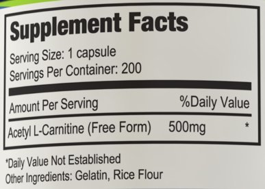 Nutrissence Acetyl L Carnitine 500mg 200 Capsules