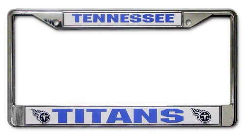 NFL Tennessee Titans Chrome Licensed Plate Frame
