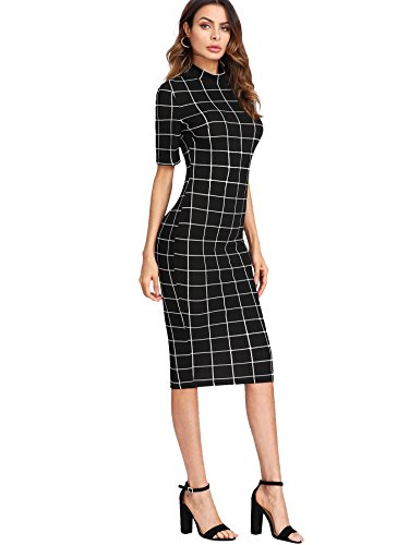 Gingham Bodycon Business Pencil Dress