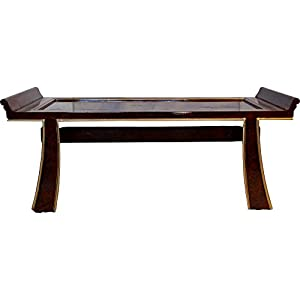 Amazoncom Black Lacquer Oriental Coffee Table With Gold