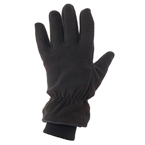 Heat Edge Touch Screen Texting Warm Fleece Winter Gloves for Men (Medium, Black)