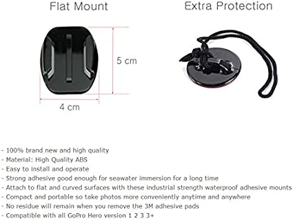 by Frentaly /™ Adjustable Curved Side Helmet Self Arm Mount Holder For Gopro Hero 4 3 2 1 Camera