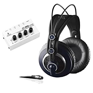 AKG K 240 MK II Professional Semi-Open Stereo Headphones with Behringer Headphone Amplifier