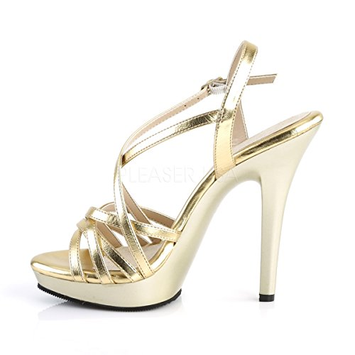 Fabulicious Damen Mini-Plateau Riemchen-Sandaletten Lip-113 Gold matt Gold