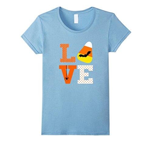 Womens Love Halloween Candy Corn Shirt Bat Spider for Kids Teacher Small Baby (Homemade Infant Spider Costumes)