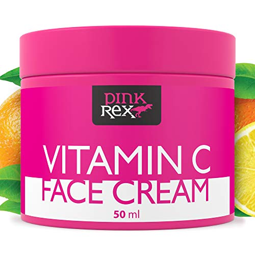 Vitamin C Face Cream Natural Hyaluronic Acid Organic Moisturizer for Skin Eye Neck Care Anti Aging and a Dark Spot Remover Simple Beauty Oil Corrector Tanning Lotion Firming Products Facial Mask e Gel