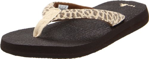 Sanuk Women's Yoga Wildlife Flip Flop,Cheetah,9 M US Animal Print Flip Flop