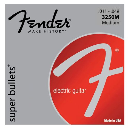 Fender Super Bullets Nickelplated Medium Electric Guitar Strings - Amp Fender Keyboard