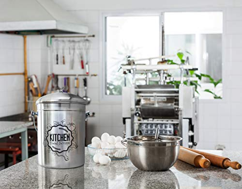 Kitchen Compost Bin Stainless Steel (Food Grade 410) Odorless Countertop Compost Pail -Bonus Charcoal Filters & Gardening Gloves. Insect-proof 1.3 Gallon bucket. Gift Boxed, and Gift Wrap available by Green Hills Health (Image #6)