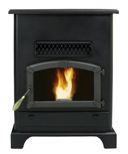 US Stove 5520 Pellet Stove with Ash Pan, Large