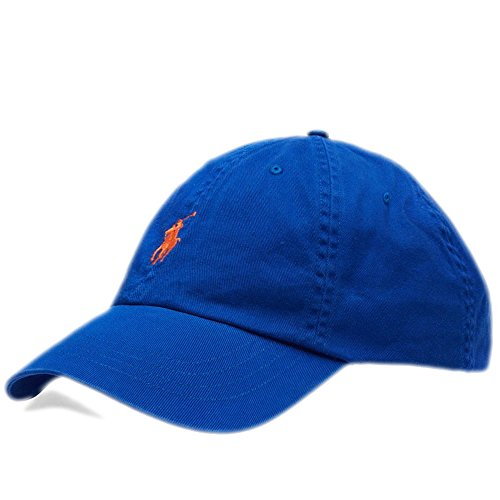 Polo Ralph Lauren Mens Chino Adjustable1 Baseball Cap Dad Hat Royal Blue - Lauren And Blue Polo Orange Ralph