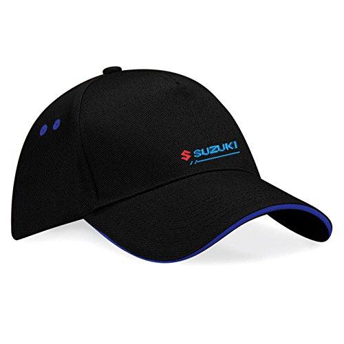 avstickerei Suzuki Embroidered Baseball Caps 100% Cotton - k044 (SW-Blau)