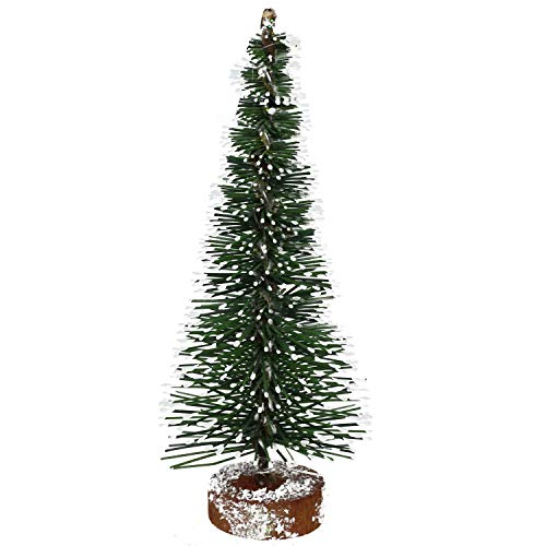 Vickerman Unlit Green Frosted Artificial Village Christmas Tree, 5