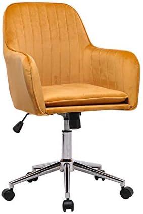 Brisk-Bun Velvet Desk Chair