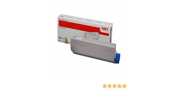 OKI C822 Cartucho de tóner - Cyan: Amazon.es: Oficina y papelería