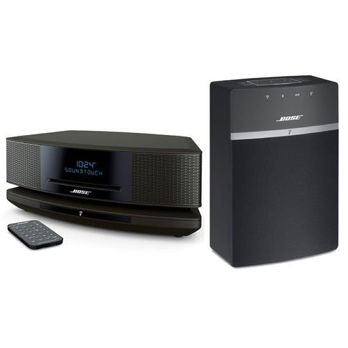 Bose Wave SoundTouch Music System IV, Includes Remote Control, SoundTouch Pedestal, Espresso Black - Bundle with Bose SoundTouch 10 Wireless Music System with Remote Control, Black by Adorama (Image #1)