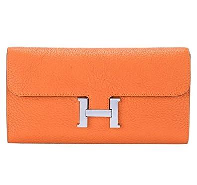 8c185585cae0 Amazon | saiheng 財布 レーディス 長財布 エルメス風財布 ロングウォレット 手持ちバッグ 2折り (オレンジ) | 財布