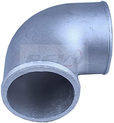 Rev9Power For turbo intercooler Universal Fit AL-250-90-POLISHED 90 Degree 2.5 inch cast aluminum elbow pipe polished