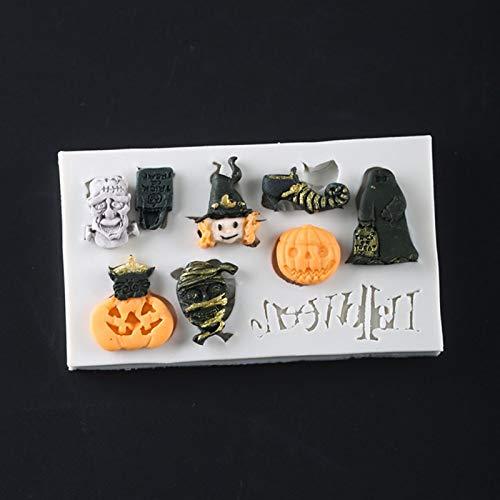 1 piece Halloween Themed Pumpkin siliconecakemold Fondant Mould Cake Decorating Tools Chocolate Gumpaste Molds Sugarcraft Kitchen Gadgets -