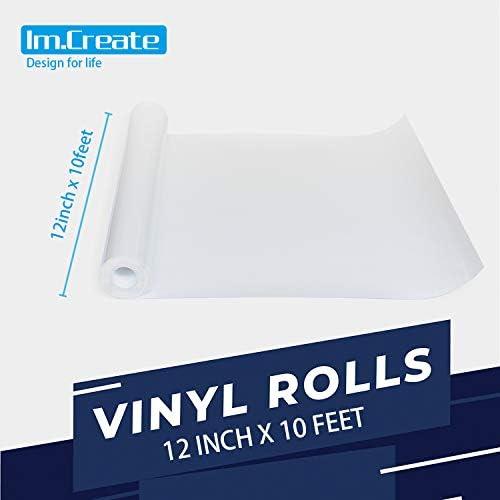 ImCreate vinilo de transferencia de calor HTV, fácil de cortar, maleza y fácil de transferir, pelar en frío y caliente, extremadamente flexible y duradero: Amazon.es: Juguetes y juegos