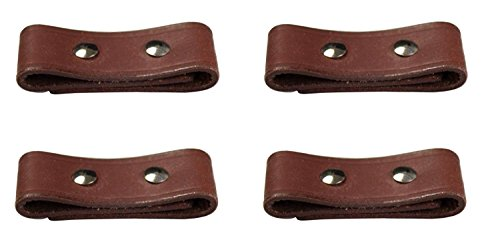 Lot of 4 Leather Breakaway Tab Repair Kit for Horse Safety Halters (Dark Oil)