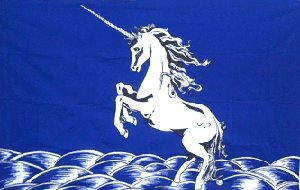 - AZ FLAG Blue Unicorn Flag 3' x 5' - Fabulous Animal Flags 90 x 150 cm - Banner 3x5 ft