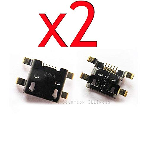 ePartSolution_2X Micro USB Charger Charging Port Dock Connector USB Port for HTC EVO 4G LTE PJ75100 Replacement Part USA