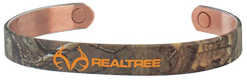 Copper Magnetic Wristband - Sabona Real Tree Camo Copper Magnetic Wristband, Medium