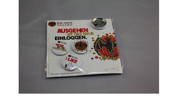 Bacardi Buttons - 3 pcs de Ron Cuba en caja de cartón: Amazon ...