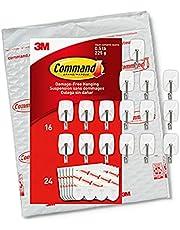 Command Small Wire Hooks, 16-Hooks, 24-Strips, Organize Damage-Free