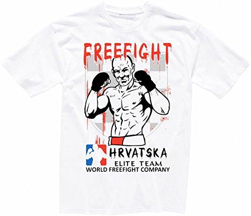Kroatien FREEFIGHT - MMA - Muay Thai Boxen - T-Shirt - 002