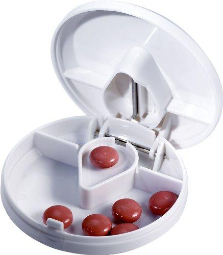 Tablettenteiler / Tablettendose rund