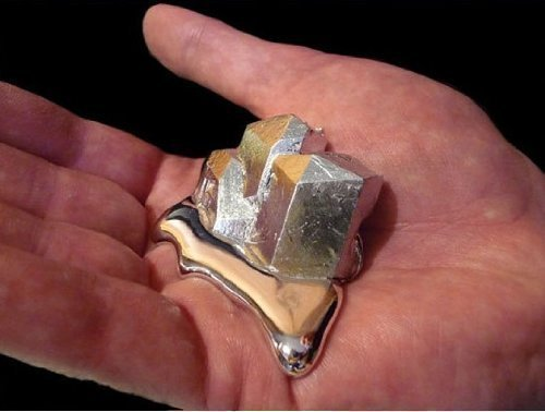Gallium Metal 99.99% Pure 40 Grams 4n Even Melt in Your Hand