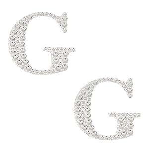 MagiDeal 2pcs Autoadhesivo Letras Diamante Post Caja Favor Adornos Manualidades G