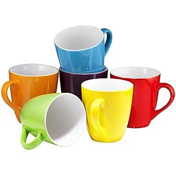 Amazon Com Coffee Mug Set Set Of 6 Large Sized 16 Ounce