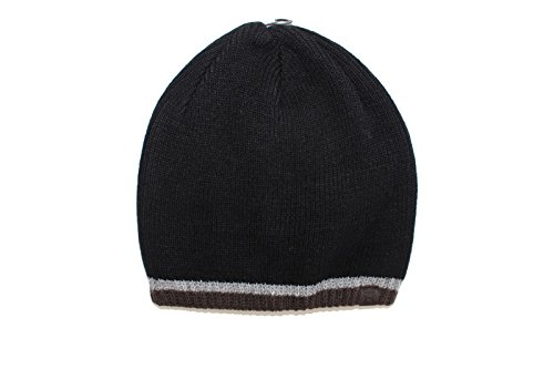 Haggar Men's Striped Cold Weather Knit Beanie Skull Cap (One Size, Brown/Black) (Brown Striped Beanie)