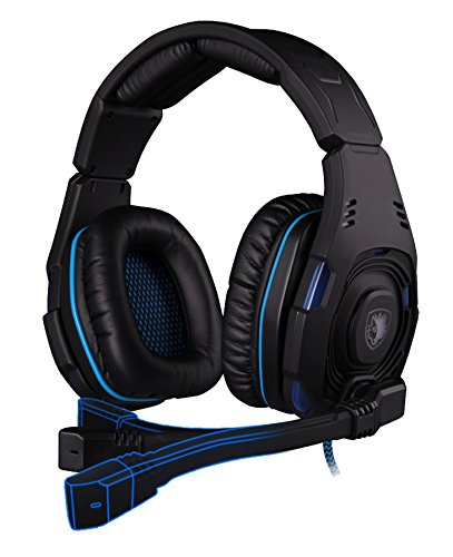 Sades Knight Braided Fiber Wired Gaming Headset with 7.1 Stereo Sound and Flexible, Retractable, Noise Cancelling - Kings The Beach At