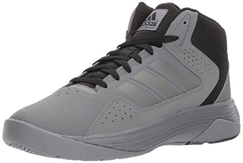 adidas Neo Men's CF Ilation Mid Basketball Shoe, Grey Four/Grey Four/Black, 9.5 Medium (Sport Mid Basketball Shoe)