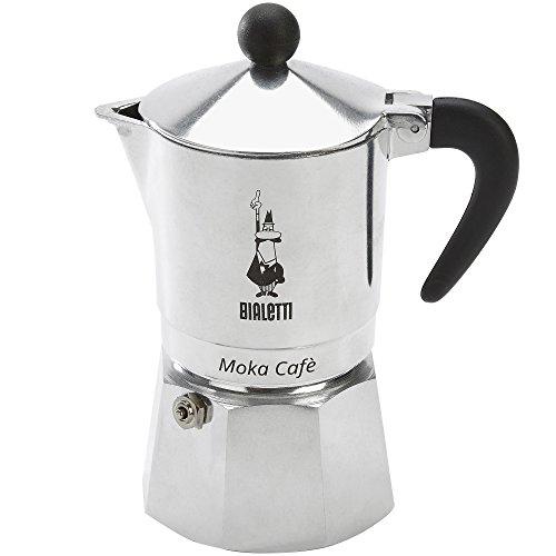 Bialetti, 06774, Moka Cafe 3 cup, Stove Top Espresso Maker, Black Black Stovetop Espresso Maker
