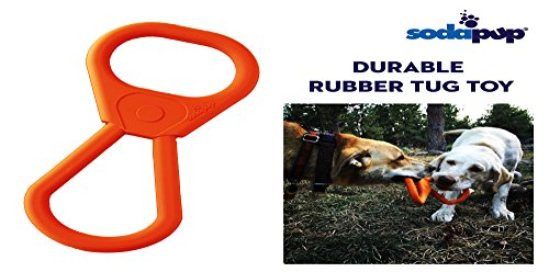 SodaPup: Tug War Dog Toys Shaped Like a Can Opener + Tough Dog Toys for Large Dogs, USA Made - ()