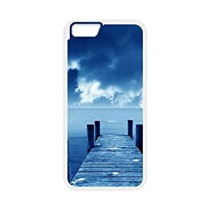 [Funny Series] IPhone 6 Case Blue Sky and Sea, Phone Case for Iphone 6 Okaycosama - White