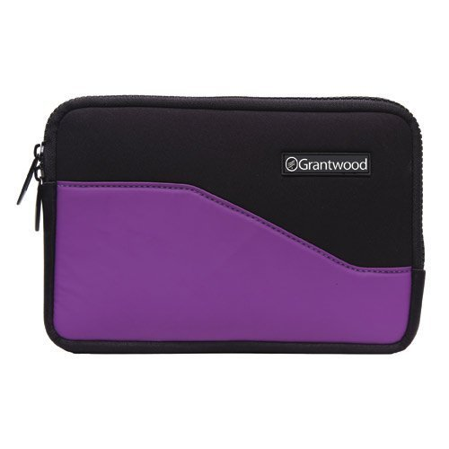 Grantwood-Technology-SimpleSleeve-for-Kindle-Premium-Protective-Neoprene-Sleeve-in-BlackPurple-for-the-6-Inch-Display-Latest-Kindle-Keyboard